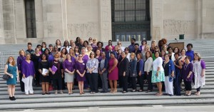 Advocates from around Louisiana at the LCADV Purple and Teal Day at the Capitol