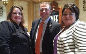 Chez Hope Legal Advocate Taylor Robison, Congressman Chad Brown, and Executive Director Cherrise Picard