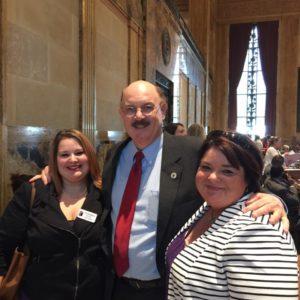 Chez Hope Legal Advocate Taylor Robison, Congressman Sam Jones, and Executive Director Cherrise Picard